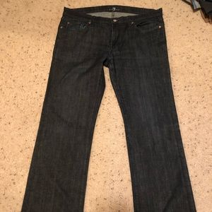 7 For all mankind dark wash jeans 36x34